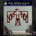 NATIVE AMERICAN THUNDERBIRD VINYL DECAL STICKER Dark Red Vinyl 120x120