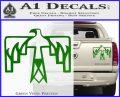 NATIVE AMERICAN THUNDERBIRD VINYL DECAL STICKER Green Vinyl 120x97