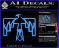 NATIVE AMERICAN THUNDERBIRD VINYL DECAL STICKER Light Blue Vinyl 120x97