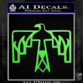NATIVE AMERICAN THUNDERBIRD VINYL DECAL STICKER Lime Green Vinyl 120x120