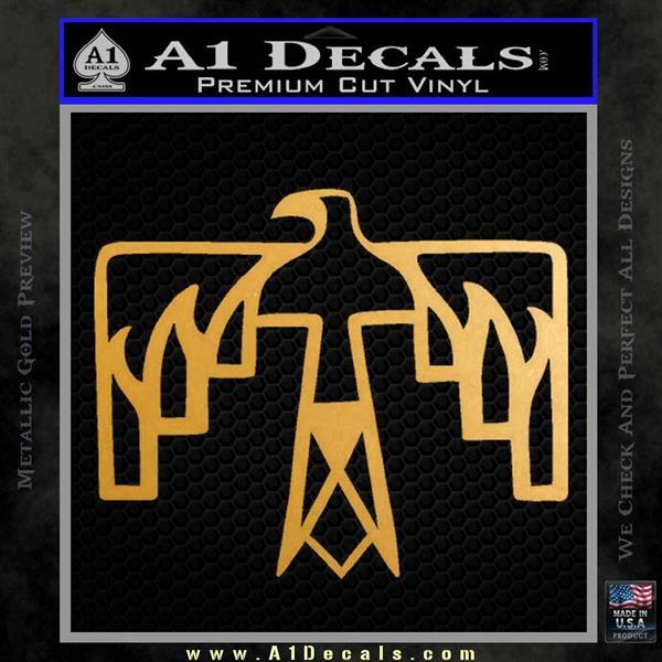 NATIVE AMERICAN THUNDERBIRD VINYL DECAL STICKER Metallic Gold Vinyl