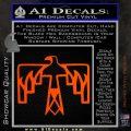 NATIVE AMERICAN THUNDERBIRD VINYL DECAL STICKER Orange Vinyl Emblem 120x120