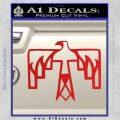 NATIVE AMERICAN THUNDERBIRD VINYL DECAL STICKER Red Vinyl 120x120