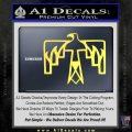 NATIVE AMERICAN THUNDERBIRD VINYL DECAL STICKER Yelllow Vinyl 120x120
