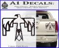 NATIVE AMERICAN THUNDERBIRD VINYL Decal Sticker Carbon Fiber Black 120x97