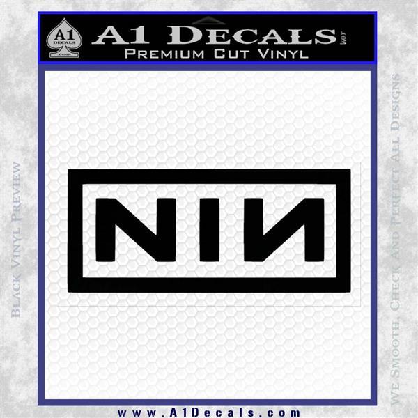 NINE INCH NAILS NIN LOGO VINYL DECAL STICKER Black Logo Emblem