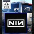 NINE INCH NAILS NIN LOGO VINYL DECAL STICKER White Emblem 120x120
