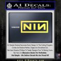 NINE INCH NAILS NIN LOGO VINYL DECAL STICKER Yelllow Vinyl 120x120