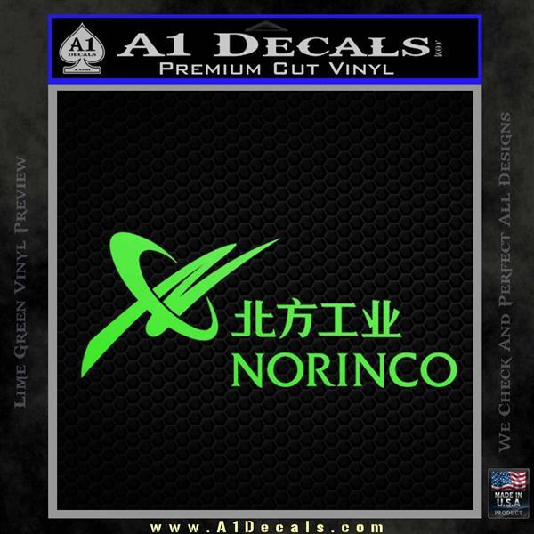 Norinco Firearms Logo Vinyl Decal Sticker 187 A1 Decals