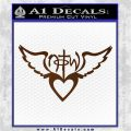 NOTW Not of This World Heart Decal Sticker Brown Vinyl 120x120