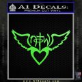 NOTW Not of This World Heart Decal Sticker Lime Green Vinyl 120x120