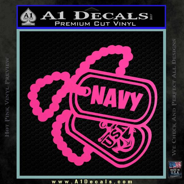Navy Usn Dog Tags Decal Anchor United States Navy Decal