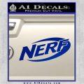 Nerf Logo Decal Sticker Blue Vinyl 120x120