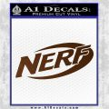 Nerf Logo Decal Sticker Brown Vinyl 120x120