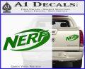 Nerf Logo Decal Sticker Green Vinyl 120x97