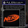 Nerf Logo Decal Sticker Orange Vinyl Emblem 120x120