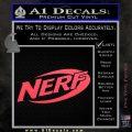 Nerf Logo Decal Sticker Pink Vinyl Emblem 120x120