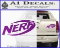 Nerf Logo Decal Sticker Purple Vinyl 120x97