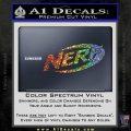 Nerf Logo Decal Sticker Sparkle Glitter Vinyl 120x120