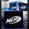 Nerf Logo Decal Sticker White Emblem 120x120