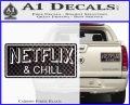 Netflix and Chill Decal Sticker D1 Carbon Fiber Black 120x97