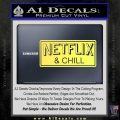 Netflix and Chill Decal Sticker D1 Yelllow Vinyl 120x120