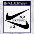 Nike Swoosh 4pk Decal Sticker DN Black Logo Emblem 120x120