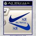 Nike Swoosh 4pk Decal Sticker DN Blue Vinyl 120x120