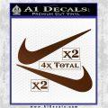 Nike Swoosh 4pk Decal Sticker DN Brown Vinyl 120x120