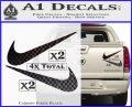 Nike Swoosh 4pk Decal Sticker DN Carbon Fiber Black 120x97