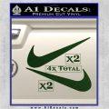 Nike Swoosh 4pk Decal Sticker DN Dark Green Vinyl 120x120