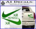 Nike Swoosh 4pk Decal Sticker DN Green Vinyl 120x97
