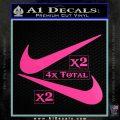 Nike Swoosh 4pk Decal Sticker DN Hot Pink Vinyl 120x120
