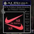 Nike Swoosh 4pk Decal Sticker DN Pink Vinyl Emblem 120x120