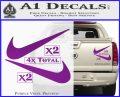 Nike Swoosh 4pk Decal Sticker DN Purple Vinyl 120x97