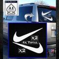 Nike Swoosh 4pk Decal Sticker DN White Emblem 120x120