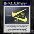Nike Swoosh 4pk Decal Sticker DN Yelllow Vinyl 120x120
