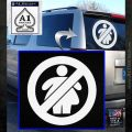 No Fat Chicks CR Decal Sticker White Emblem 120x120