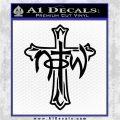 Not of This World Cross NOTW Decal Sticker Black Logo Emblem 120x120