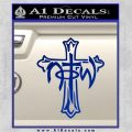 Not of This World Cross NOTW Decal Sticker Blue Vinyl 120x120