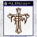Not of This World Cross NOTW Decal Sticker Brown Vinyl 120x120