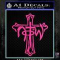 Not of This World Cross NOTW Decal Sticker Hot Pink Vinyl 120x120