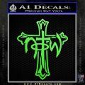 Not of This World Cross NOTW Decal Sticker Lime Green Vinyl 120x120