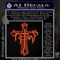 Not of This World Cross NOTW Decal Sticker Orange Vinyl Emblem 120x120