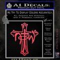 Not of This World Cross NOTW Decal Sticker Pink Vinyl Emblem 120x120