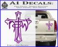 Not of This World Cross NOTW Decal Sticker Purple Vinyl 120x97