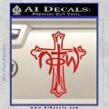 Not of This World Cross NOTW Decal Sticker Red Vinyl 120x120