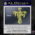 Not of This World Cross NOTW Decal Sticker Yelllow Vinyl 120x120