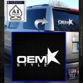 OEM Style Decal Sticker White Emblem 120x120