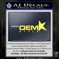 OEM Style Decal Sticker Yelllow Vinyl 120x120